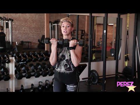 Shoulder & Butt Workouts Made Easy! Trainer Jackie Warner Shows You Her Favorites! | Perez Hilton