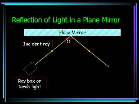 Reflection Of Light In A Plane Mirror Youtube