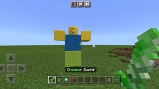 Roblox NOOB vs Creeper Sword in Minecraft PE