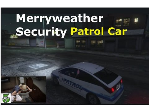 GTA V Online -Merryweather Security Patrol Car How To Get It   Can We Store It ?