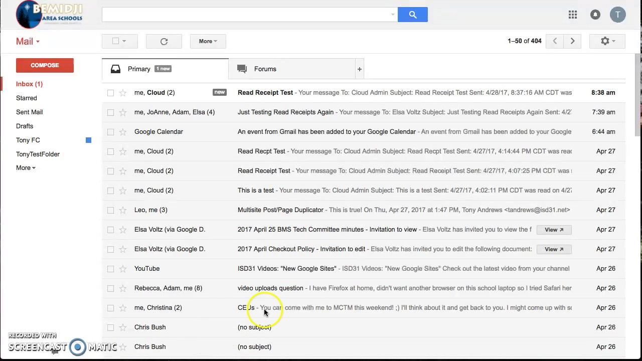 Read Receipts Gmail