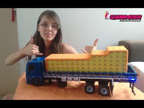 ENCOMENDA: Miniatura caminhão VM Truck Carga Impressa cerveja SKOL