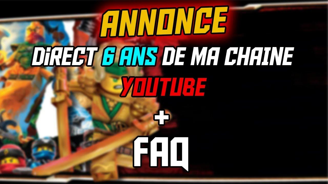 Annonce 6 ans de ma chaîne YouTube + FAQ !