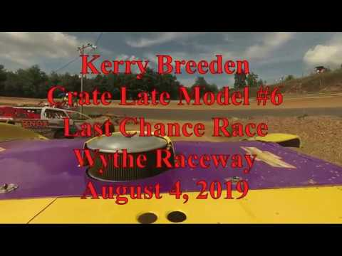 Kerry Breeden Last Chance Race at Wythe Raceway - 8/4/19