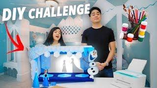 DIY CHALLENGE (FROZEN PUPPET THEATER) | Niana Guerrero