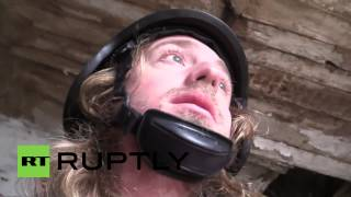 Ukraine: Journalist films moment he was nearly SHOT by sniper