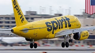 Spirit Airlines engine failure  Spirit plane spewing parts after Detroit takeoff    TomoNews