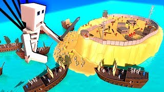 Undead Skeleton Army Invades a Huge Island Fortress in Ancient Warfare 3!