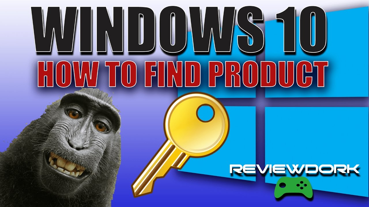 How To Find Windows 10 Product Key - YouTube