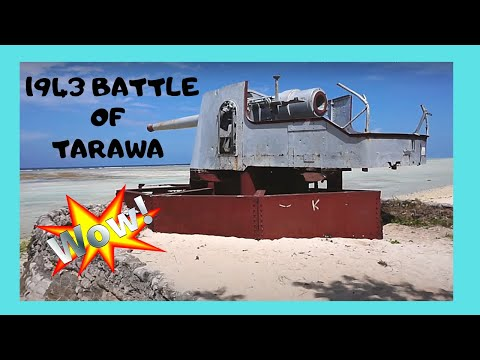 KIRIBATI, WW2 1943 BATTLE of TARAWA, the JAPANESE SITES (Cen