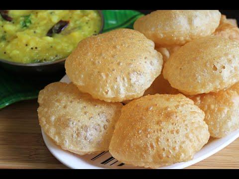 എണ്ണ ഒട്ടും കുടിക്കാത്ത Soft Puffy ഗോതമ്പു പൂരി/Perfect Crispy Puffy Poori Recipe in malayalam