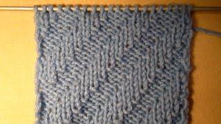 ВЯЗАНИЕ СПИЦАМИ ДЛЯ НАЧИНАЮЩИХ,ДИАГОНАЛЬНАЯ РЕЗИНКА! Knitting