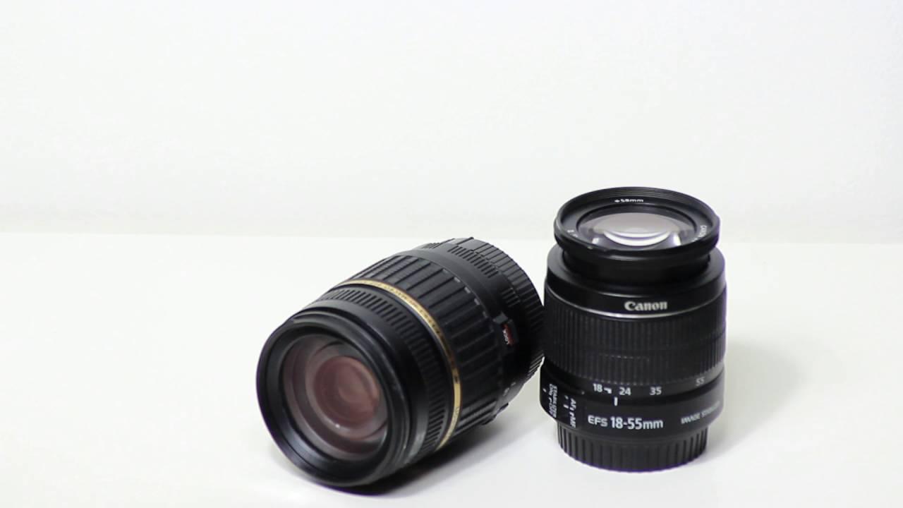 Tamron 18-200mm vs Canon 18-55mm - YouTube