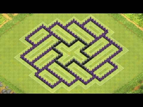 Clash Of Clans Town Hall 8 Defense (CoC TH8) BEST Hybrid Base Layout Defense Strategy