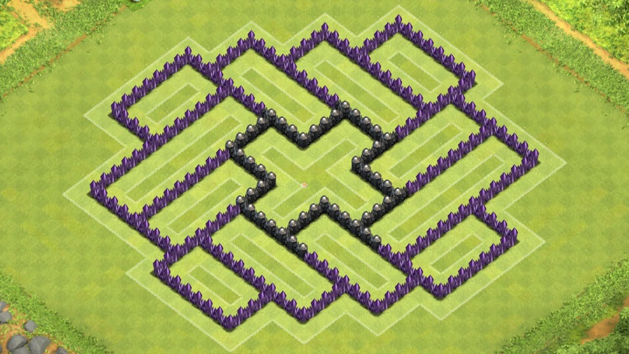 Clash of clans town hall 8 defense coc th8 best hybrid base layout