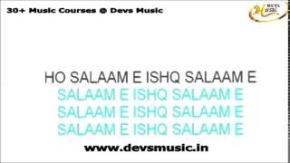 Salaame ishq karaoke www.devsmusic.in Devs Music Academy