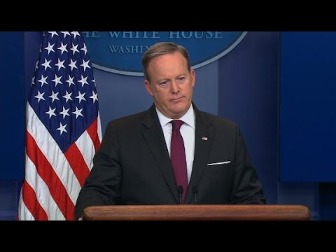 Thumbnail: Spicer's credibility in question after defending Trump