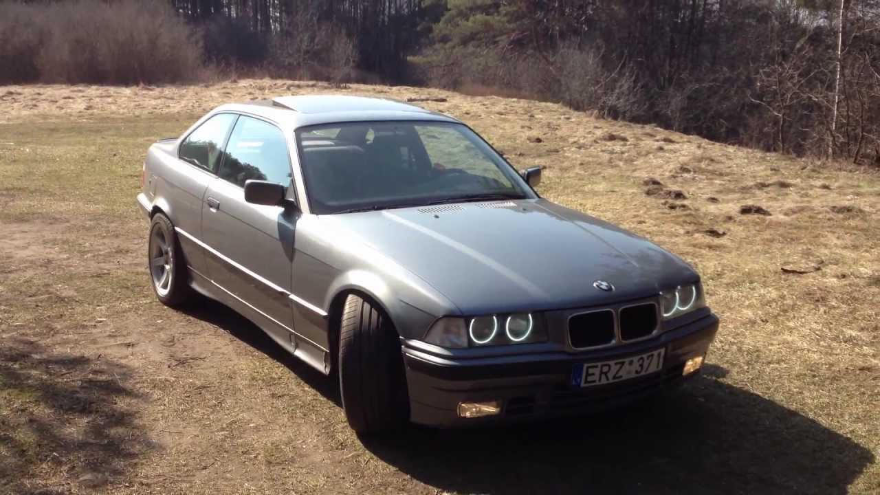 bmw e36 318is m42b18 coupe with angel eyes youtube. Black Bedroom Furniture Sets. Home Design Ideas
