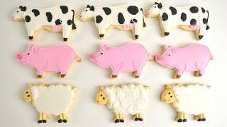 COW~SHEEP~PIG FARM ANIMAL COOKIES by HANIELA