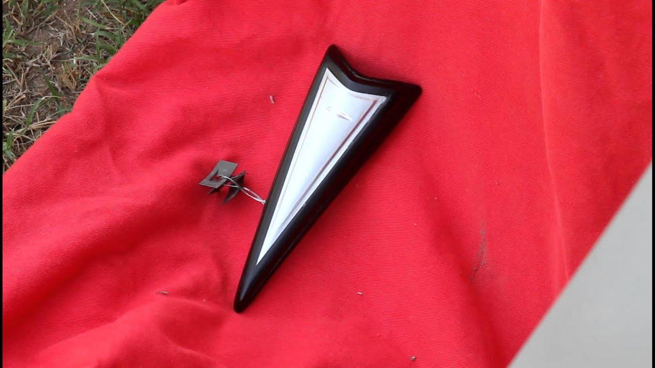 Pontiac 350 Emblem : Pontiac arrowhead emblems and hood ornaments youtube
