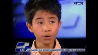 Little guy From Pilipinas singing on [Whitney Houston] - i will always love you
