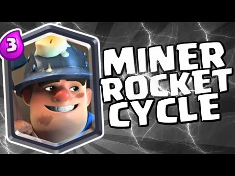 MINER ROCKET CYCLE | Miner Control | Clash Royale Grand Challenge Deck