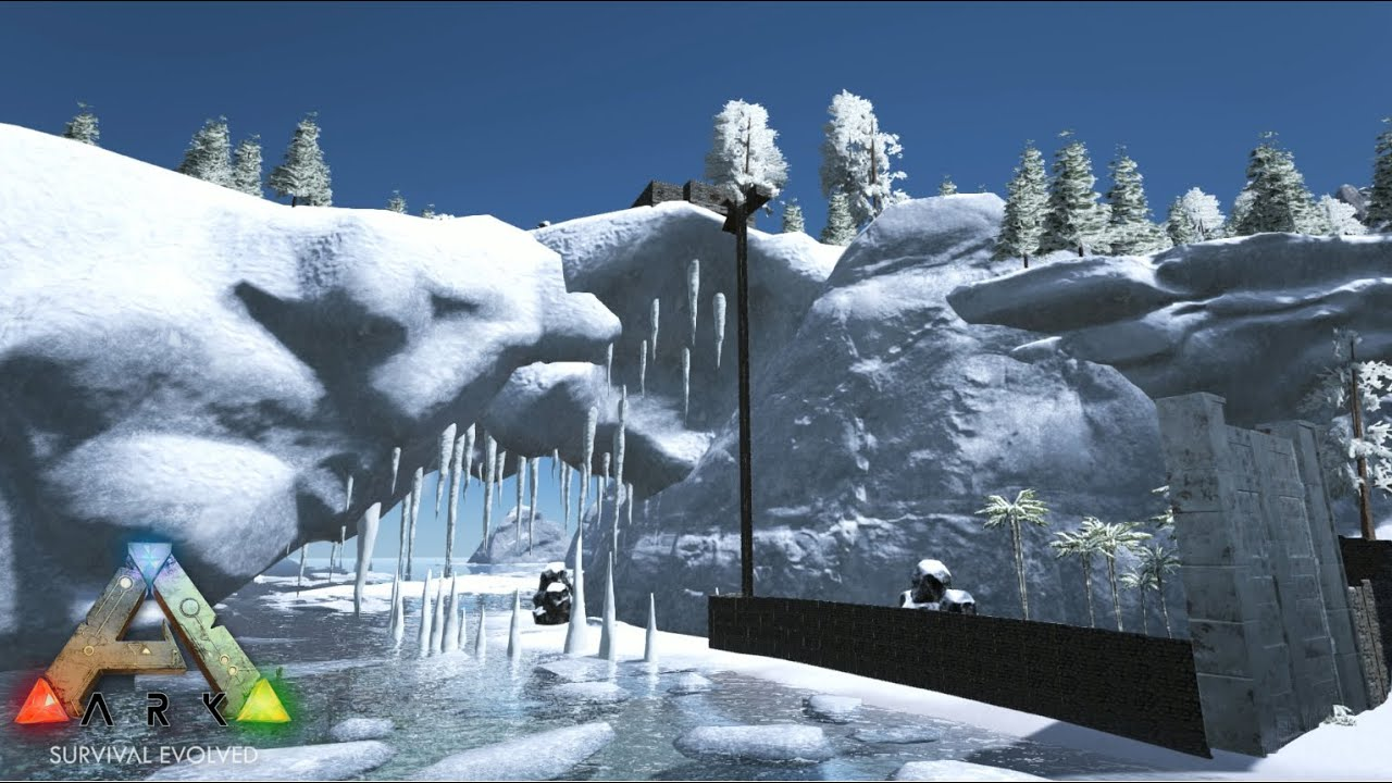 Ark Survival Evolved Part 33 THE SNOW BASE YouTube