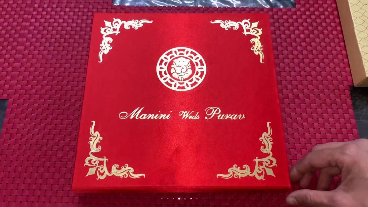 Manini Weds Purav Indian Wedding Invitation Card - YouTube