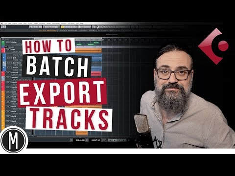 How to BATCH EXPORT TRACKS for MIXING in Cubase 9.5 – mixdown.online