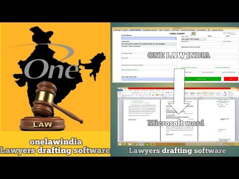 How to works Lawyers drafting software (One Law India). all Courts Legal drafting, Lagal firms