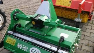 Glebogryzarka separacyjna GEO SBb-105 do traktorków japońskich. www.akant-ogrody.pl