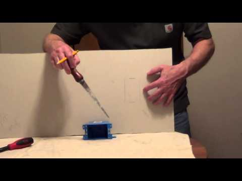 How to Install Old Work Electrical Box - Remodeling Box