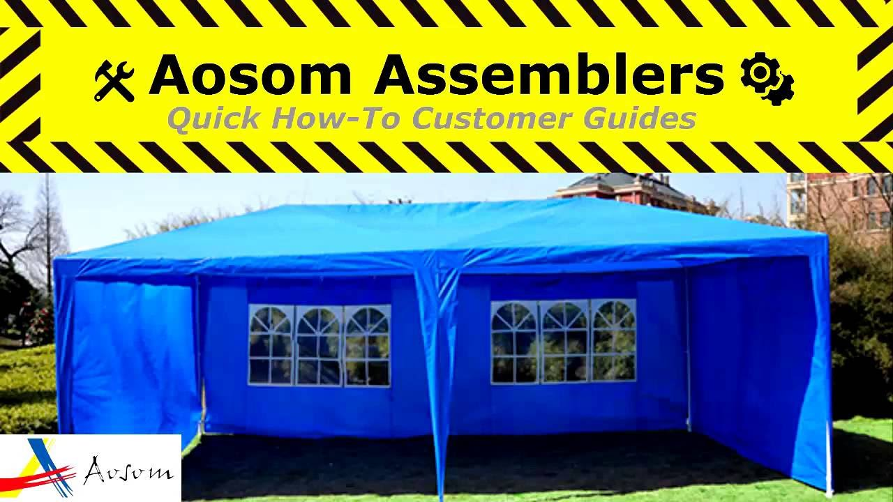 How To Assemble The Outsunny 10 X 20 Gazebo Canopy Tent
