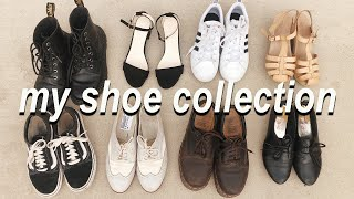 shoe collection 2019! // dr martens, vans, converse, adidas, salt water, lauren conrad, romwe & more