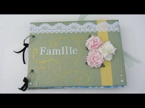GeschenkeTipp Scrapbook Familienalbum  YouTube