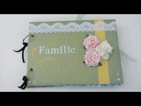 geschenke tipp scrapbook familienalbum youtube. Black Bedroom Furniture Sets. Home Design Ideas