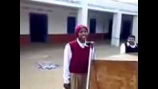 Punjab Govt School Singing a song in praise of mother