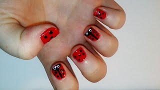 Ladybug Inspired Nail art Tutorial | Samantha Beauty Thumbnail