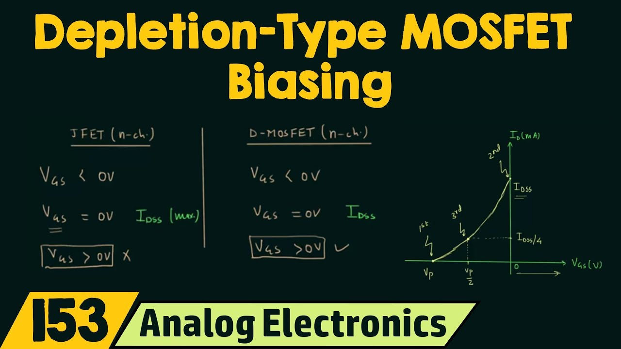 Introduction To Depletion Type Mosfet Biasing Youtube Fet