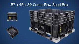 Buckhorn Hopper Bottom CenterFlow Seed Box 57 x 45 x 32