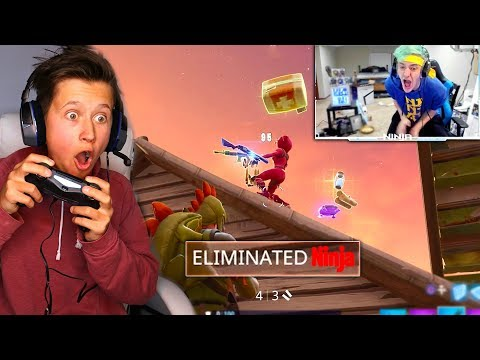 MY LITTLE BROTHER 1v1's NINJA IN FORTNITE & WINS! (Freaks Out) | David Vlas