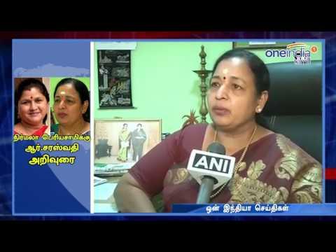 C.R.Saraswathy Advice to Nirmala Periyasamy - Oneindia Tamil