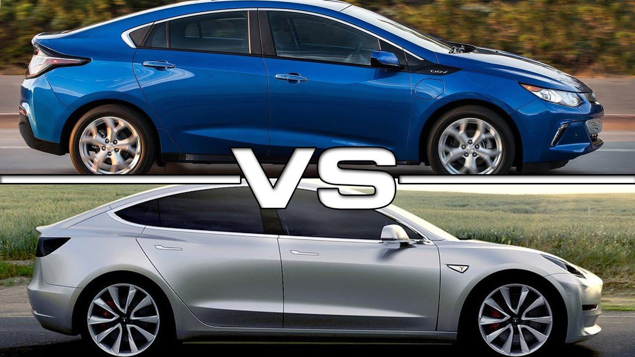Chevy volt vs tesla 3