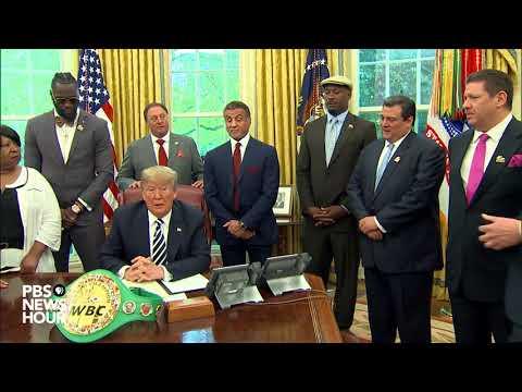 WATCH: President Trump posthumously pardons boxer Jack Johnson