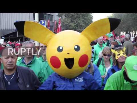 Belgium: Tens of thousands protest against austerity in Brussels