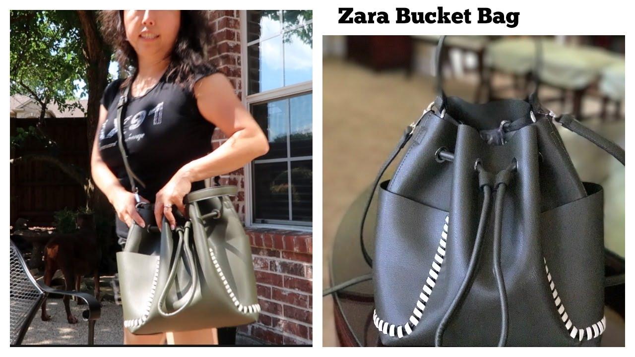 4393fb29 Zara Bucket Bag first look - YouTube