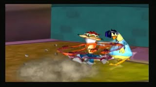 Crash Tag Team Racing PS2 All Die-O-Ramas, Track Secrets and Gags