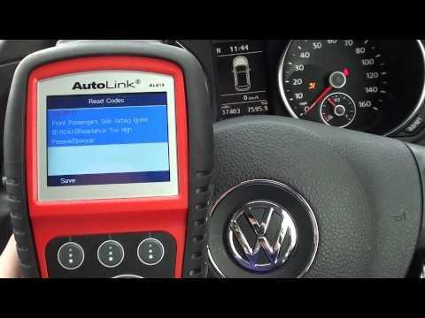 VW Golf Mk6 AL619 Reset Airbag Warning Light