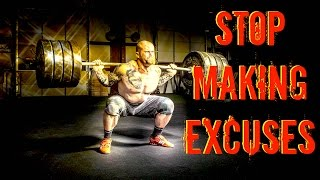 Quotes - Stop Making Excuses | No More Excuses | No Excuses | Best Motivaitonal Quotes