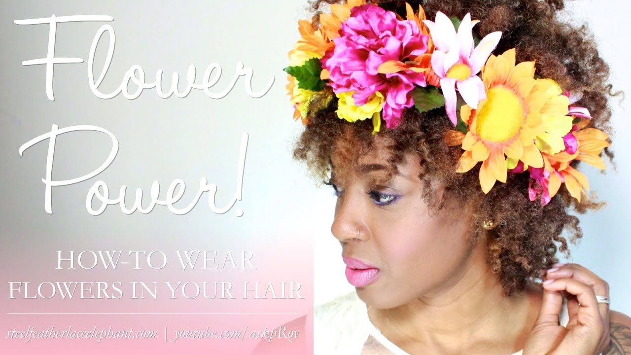 Wear flowers in your hair for spring 4chairchick vlogger youtube izmirmasajfo